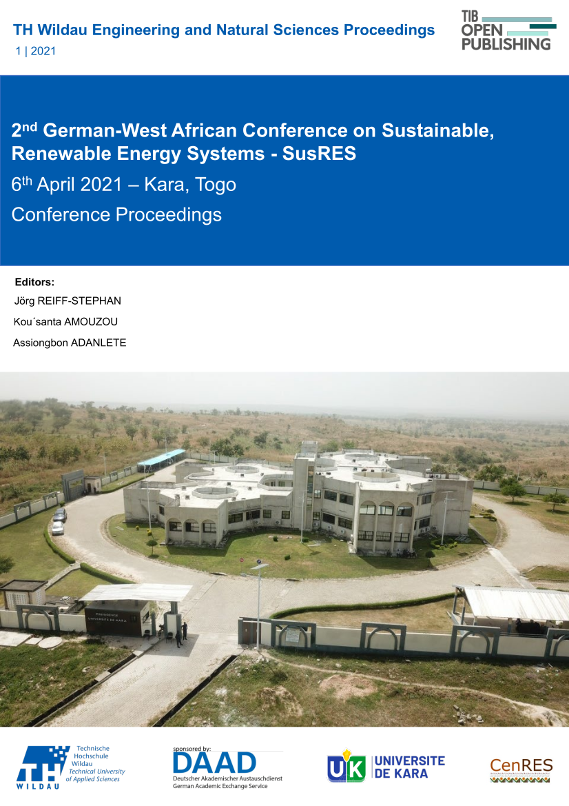 View Vol. 1 (2021): 2nd German-West African Conference on Sustainable, Renewable Energy Systems (SusRES2021)
